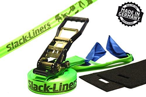 Slack-liners Ensemble de slackline 4 pièces avec sangle à cliquet...