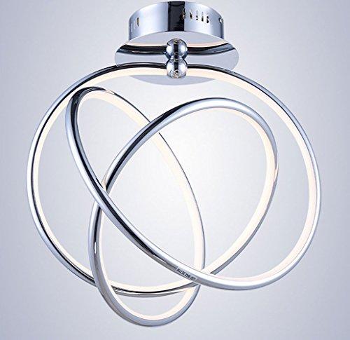 LED Special Bombilla de plafón acrílico Chrome hierro plata anillo Modern Fácil Dormitorio restaurante Lámpara d45cm 40cm W 1Lights