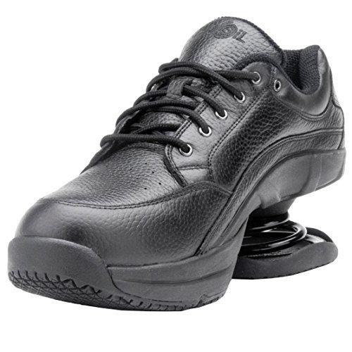 Z-CoiL Men's Legend Slip Resistant Black Leather Shoe - 11 D(M) US