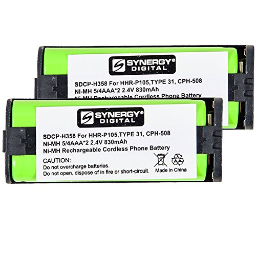 Panasonic HHR-P105 Cordless Phone Battery Combo-Pack Includes: 2 x SDCP-H358 Batteries