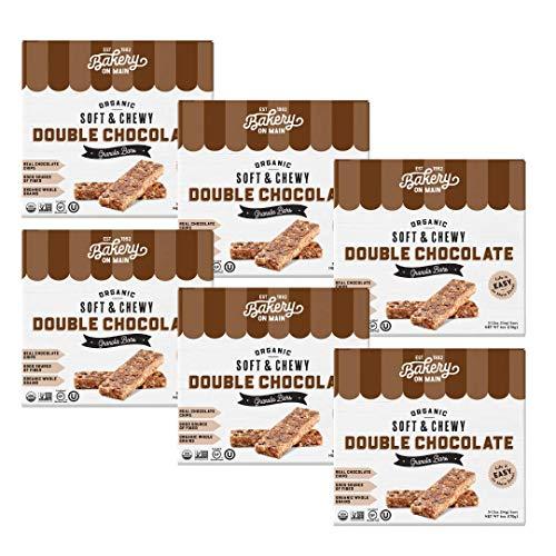 Bakery on Main Gluten Free 4-4-8 Granola Bars, Double Chocolate, 5 Count, 6 oz