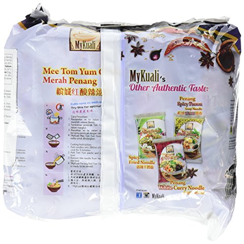MyKuali Penang Tom Yum Noodle (4 Pack x 3.7 oz each)