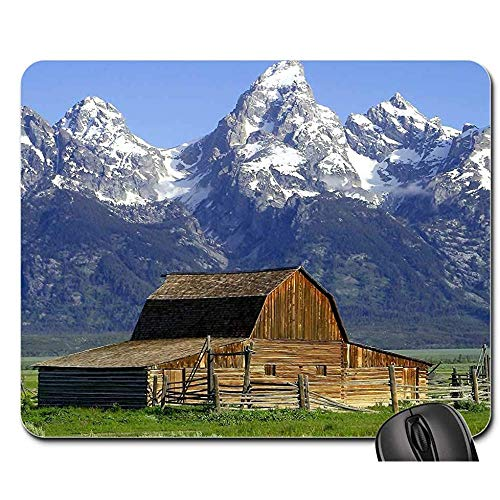 Mousepad Barn Hut Mormonisch Wyoming National Park USA Gaming Mat Mousepad Mousepad Mousepad 25x30cm
