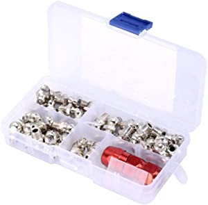 Metal Replacement Grease Nipple Fittings Pack Set Mechanical Lubrication Part Accessories With Case M6 set