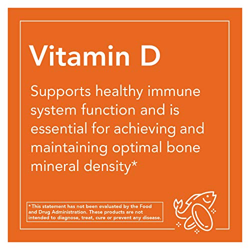 Now Supplements Vitamin D-3 1000 IU-180 Softgels