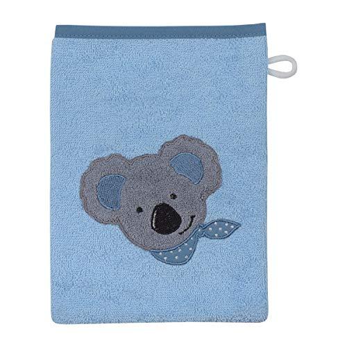 Wörner Gant de toilette 15 x 21 cm GOTS gant de toilette bébé, bleu clair