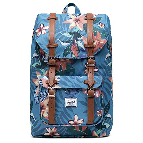 Herschel Little America Mid-Volume Backpack Summer Floral Heaven Blue