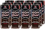 High Brew Cold Brew Coffee - Black & Bold, 8 Ounce (12 Count)