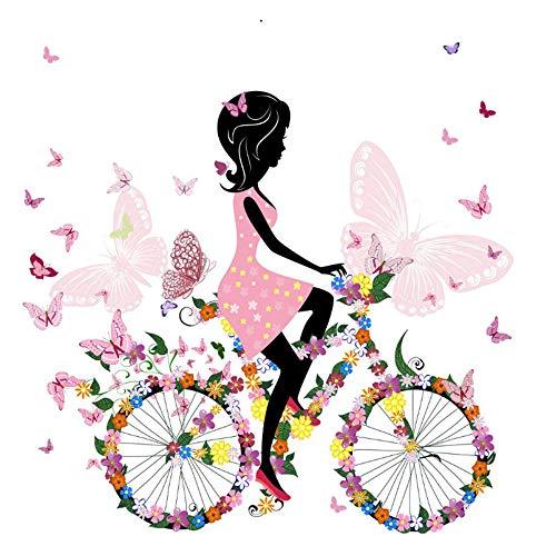 DIY 5D Kit de Pintura de Diamante,Bicicleta chica Kits de pintura de punto de cruz diamante para Adultos y niños rhinestone bordado diamante arte,regalo de decoración del hogar 30 x 40 cm