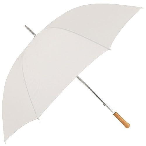 4a313c1b6cd9e eBuyGB Large Manual Opening Golf Chauffeur Wedding Stick Umbrella, 130 cm,  White