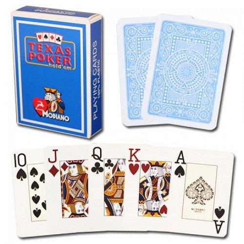 Modiano Premium Quality Poker Playing Cards Texas Poker Jumbo - Light Blue