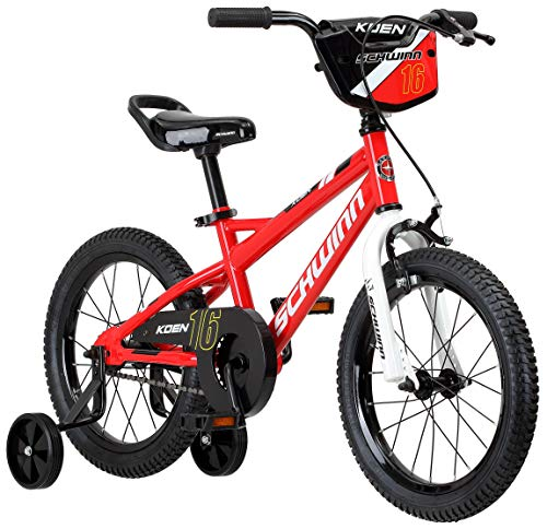 Schwinn Koen Boys Bike for Toddlers and Kids, 16-Inch Wheels, Red