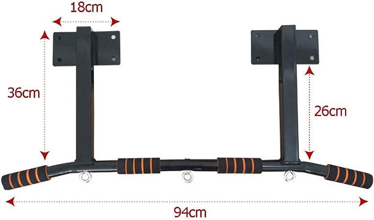 Samule - Barra de dominadas para montar en la pared o en la barbilla, para entrenamiento de fuerza en el gimnasio o en el hogar, 200 kg, altura no ...