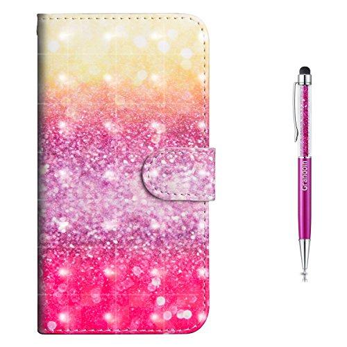 Grandoin Redmi S2 Hülle, Handyhülle im Brieftasche-Stil für Xiaomi Redmi S2 Handytasche PU Leder Flip Cover 3D Bunte Muster Book Case Schutzhülle (Mehrfarbig)
