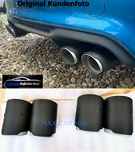 MAX CARBON Satz echt Carbon Endrohre Auspuff Endrohr Blende passend für M2 M3 M4 M5 M6 F87 F80 F82 F83 F10 F12