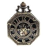 HKJZ SFLRW Classico Orologio da Taschino per Quarzo Vintage Liscio, Orologio da Donna con Catena di Natale Laurea triennale Regali di Compleanno Giorni di Padri