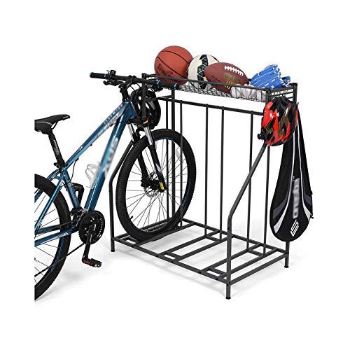 3 bastidores de bicicletas, bastidores de almacenamiento con función de almacenamiento, 3 ranuras de bicicleta con ancho ajustable, para montaña, carretera, bicicletas para niños Personalización profe