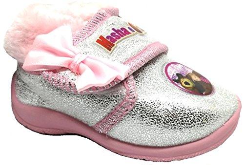 ARNETTA Masha E Orso Pantofole, Scarpette Bimba Art. S18717 Rosa (27)