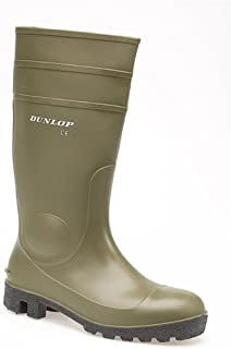 DUNLOP PROTOMASTER SAFETY TOE WELLINGTON BOOT GREEN 36