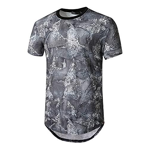 SSBZYES Camiseta para Hombre Camiseta De Manga Corta De Gran Tamaño para Hombre Camiseta Holgada Informal Cuello Redondo Camiseta De Manga Corta De Gran Tamaño para Hombre Camiseta con Estampado