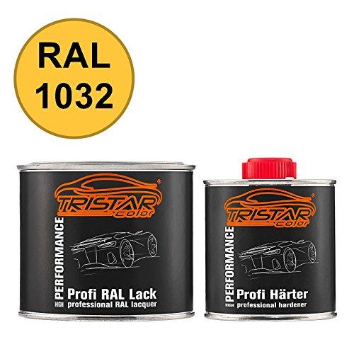 TRISTARcolor RAL 1032 Ginstergelb 2K Autolack glänzend 0,75 Liter / 750 ml Dose inkl. Härter