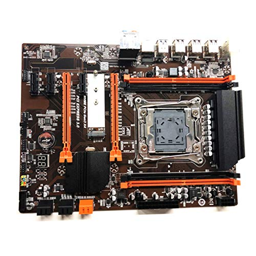 fengchensety 2011 V3 Computer Motherboard,X99 ECC SATA 3.0 with M.2 NVME SSD USB 3.0 DDR4 Memory Supports 2678V3cpu,M.2 USB 3.0 DDR4 Memory