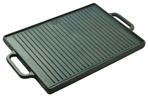 Plancha-grill professionnelle réversible en fonte - 500*350 mm