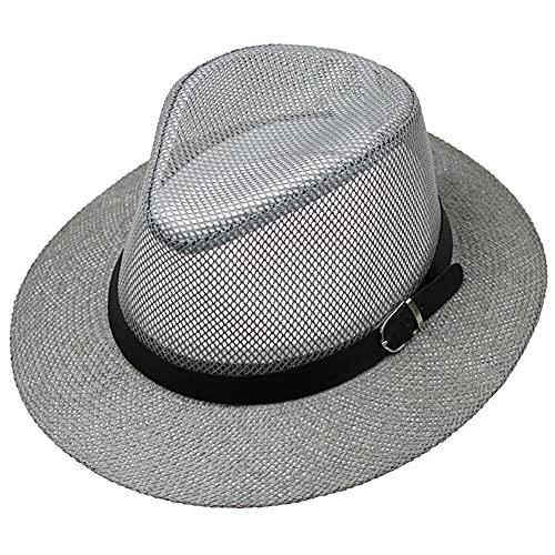 YHDNCG Opvouwbare heren emmer hoeden zomer UV-bescherming strandhoed heren zonnehoeden golf safari hoed vissen hoed stro grijs