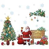 Kesote Pegatinas de Pared de Navidad Pegatinas de Santa Claus, Árbol de Navidad Decoración navideña para Hogar, Habitación Infantil, Ventana, DIY, alrededor de 45 x 60 cm