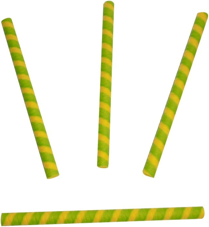 Mercancía de alta calidad y servicio conveniente y honesto. Unidades 250cialda Amarillo verde verde verde a forma de cannolo larga cm 17para helado yogur Repostería y mousse  servicio honesto