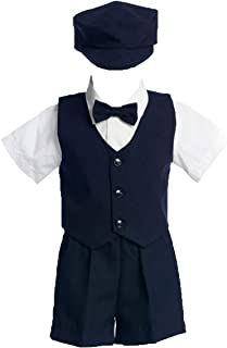 Lito Baby Boys Navy Vest Short Hat Easter Ring Bearer Suit 24M