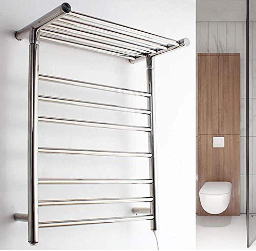 Toallero eléctrico, toallero termostático para baño, radiador montado en la pared, estante de toalla tridimensional, tamaño: 680 x 520 x 300 mm