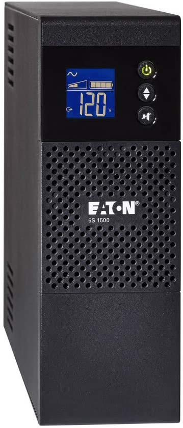 Eaton 5S1500LCD UPS Battery Backup & Surge Protector, 1500VA / 900W, AVR, LCD Display, Line Interactive (Not for sale in CO, VT, or WA)