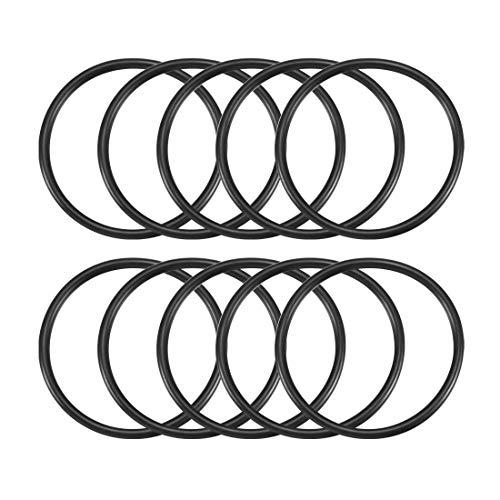 uxcell Nitrile Rubber O-Rings 65mm OD 57mm ID 4mm Width, Metric Buna-N Sealing Gasket, Pack of 10