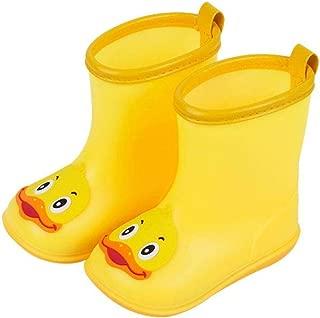 Kids Baby Rain Shoes, Waterproof Anti-Slip Snow Durable Rubber Boots Cartoon Duck Rain Water Protectors Shoes