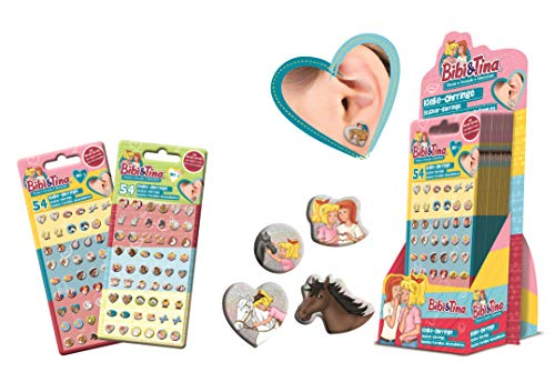 CRAZE Sticker Earrings BIBI & Tina Selbstklebende Ohrringe für Kinder Kinderschmuck Schmuck 10631, Verschiedene Motive
