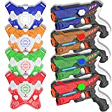 4 Laser Tag Sets with Gun and Vest,Lazer Tag Set Red Outside Group Activity for Kids,Adults,Family, 4 Player Home...