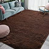 Homore Luxury Fluffy Area Rug Modern Shag Rugs for Bedroom Living Room, Super Soft and Comfy Carpet, Cute Carpets for Kids Nursery Girls Home, 3x5 Feet Brown