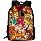 Mochila infantil de Dragon Ball Nior Goku de alta calidad, mochila de escuela, reversible, bolso de mano, tamaño grande