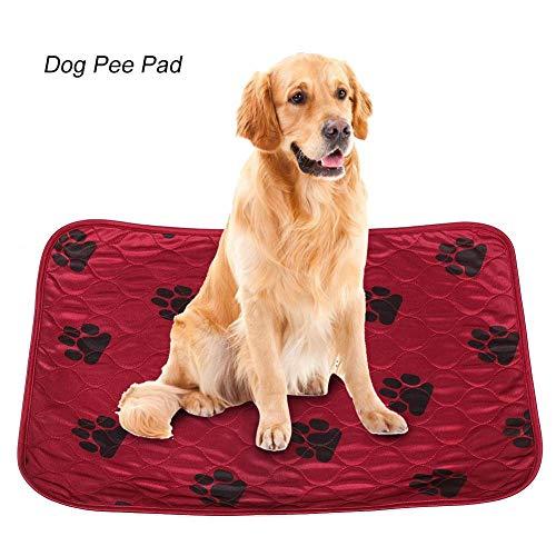 Soulong Pee Matte pads honden puppy incontinentie-onderlegger wasbaar tot 60° absorberend herbruikbaar waterdicht 4-laags ontwerp, 70 * 80cm, rood