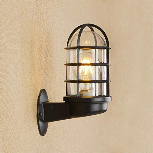 Outdoor metalen kooi Muur Light Waterdicht Porch Light, Black Modern waterdicht wandlampen, binnenplaatsen, gangen, villa's, gazons, schuttingen