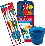 Faber-Castell - Caja de colores, 12 Farben Farbkasten, multicolor, 12