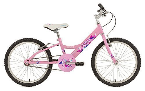 RALEIGH EXT Wave Mädchen Kinder Bike Pink, 27,9cm Zoll Stahl Rahmen, 1Speed Aluminium V-Brakes MTB Sattel