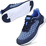 STQ Walking Shoes for Women Lace Up Lightweight Tennis Shoes Breathable Casual Sneakers 8 Navy