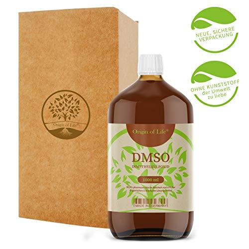 DMSO 1000ml 99.9% Reinheit - pharmazeutisch Rein nach Ph. Eur. - unverdünnt – Dimethylsulfoxid – ohne Zusatzstoffe - DMSO 1L - Made in Germany