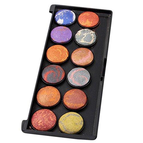 Palette de sombre à paupières à 12 couleurs Ensemble de maquillage pour maquillage pour maquillage et ombre à cosmétiques avec miroir , 2