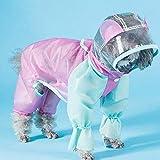 Haustier Hund Regenmantel Hund Vierbeiniger Regenmantel Kleine Welpen Frühlings- Und Sommerkleidung...