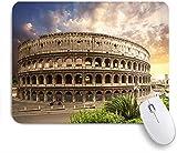 PATINISA Alfombrilla Raton Ordenador,Foro Coliseo de Color Azul Roma Italia Parques Flavios Coliseo Rojo Anfiteatro Romano de Roma Empire Field,Alfombrilla Suave Gaming para Ratón Adecuado