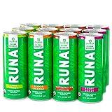 Organic Clean Energy Drink by RUNA, Variety Pack | Refreshing Tea Taste | 10 Calories | Powerful Natural Caffeine | Healthy Energy & Focus | No Crash or Jitters | 12 Oz (Pack of 12)
