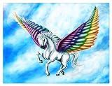Classic Adult Puzzle 1500 Piezas Cielo Volando Alas Coloridas Unicornio Regalo De Cumpleaños